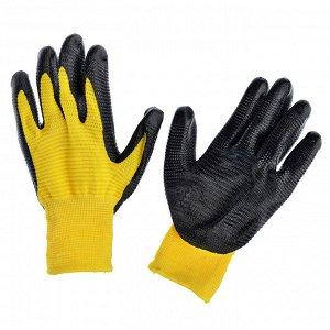 INBLOOM Садовые перчатки, 10 размер, нейлон с нитриловым полуобливом, 50 гр, 2 цвета ✅