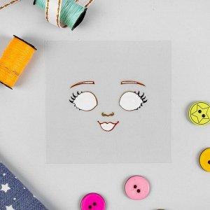 """Термонаклейка для декорирования текстильных изделий """"Кукла Аня"""", 6,5*6,3 см"""
