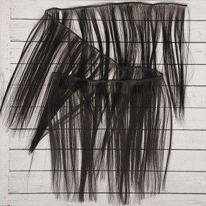 Волосы - тресс для кукол «Прямые» длина волос: 25 см, ширина:100 см, цвет № 1В