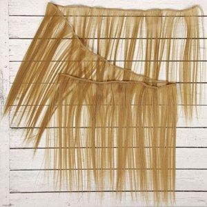 Волосы - тресс для кукол «Прямые» длина волос: 25 см, ширина:100 см, цвет № 24