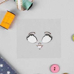 """Термонаклейка для декорирования текстильных изделий """"Кукла Маша"""", 6,5*6,3 см"""