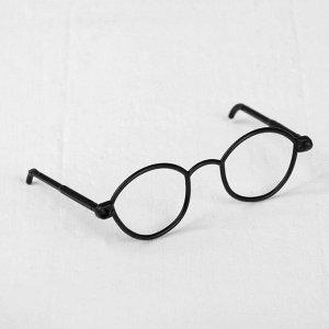 Очки для игрушек, набор 4 шт., цвет чёрный
