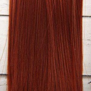 Волосы - тресс для кукол «Прямые» длина волос: 15 см, ширина:100 см, цвет № 350