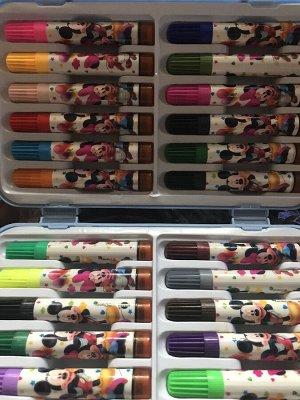 Набор фломастеров с печатями в чемоданчике 24 цв