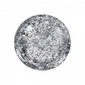 Декоративные блёстки LU*ART Lu*Glitter (сухие), 20 мл, палочки, серебро