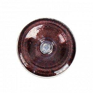 Декоративные блёстки LU*ART Lu*Glitter (сухие), 20 мл, размер 0.2 мм, коричневый тёмный
