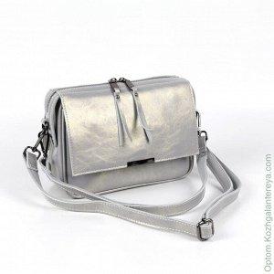 Женская кожаная сумка 8038 Лайт Грей серый