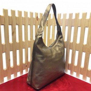 Стильная женская сумочка Lestor_Lost из натуральной кожи бронзового цвета.