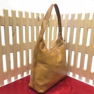 Стильная женская сумочка Lestor_Lost из натуральной кожи песочного цвета.