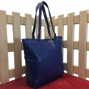 Стильная женская сумочка Levrone_Egol из натуральной кожи цвета темного индиго.