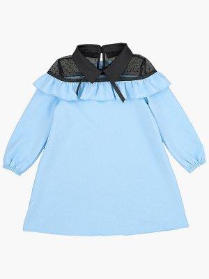 Платье (98-122см) UD 6900(4)голуб/черный