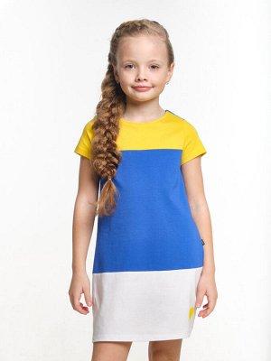 Платье UD 2913 син/желт