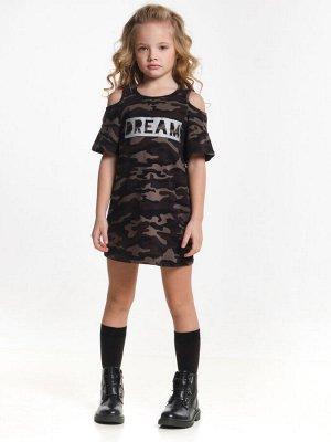 Платье UD 4583 хаки.камуфл