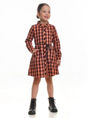 Платье с карманами (98-122см) UD 4060(1)оранж кл