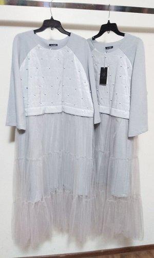 Шикарное платье с фатиновой юбкой