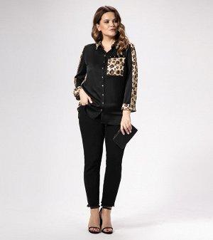 Блузка Вискоза/viscose 50%; полиэстер/polyester 48%; эластан/elastane 2%. Рост: 164 см. Бесспорным трендом этого года будет леопардовый принт, стильная блузка из полувискозной ткани. Блузка полуприлег