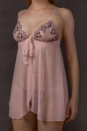 сорочка Verally 307-2 цветочно-розовый