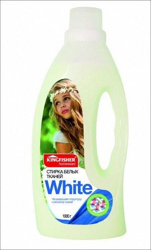 "Жидкое средство KINGFISHER для стирки белых тканей ""White"" 1000г"