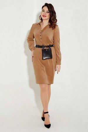 Платье Платье Angelina & Company  322 охра-коричневая  Состав ткани: ПЭ-24%; Хлопок-74%; Лайкра-2%;  Рост: 164 см.  Эксклюзивное, стильное, молодежное платье,выполнено из высококачественной вельветов