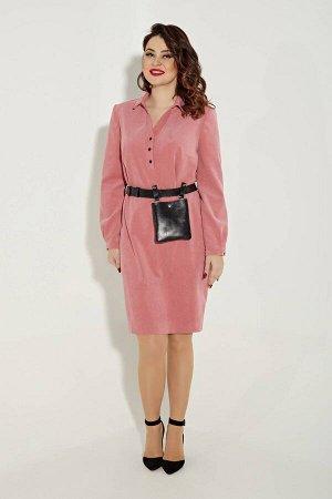 Платье Платье Angelina & Company  322 пудра  Состав ткани: ПЭ-24%; Хлопок-74%; Лайкра-2%;  Рост: 164 см.  Эксклюзивное, стильное, молодежное платье,выполнено из высококачественной вельветовой ткани,