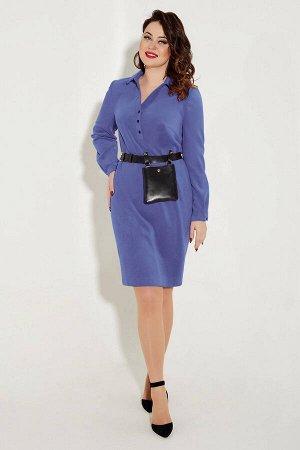 Платье Платье Angelina & Company  322 пурпурно-синий  Состав ткани: ПЭ-24%; Хлопок-74%; Лайкра-2%;  Рост: 164 см.  Эксклюзивное, стильное, молодежное платье,выполнено из высококачественной вельветово
