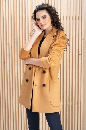 Пальто Пальто ЮРС 19-244/2  Состав ткани: Вискоза-18%; ПЭ-82%;  Рост: 164 см.  Пальто такой длины понравится тем, кто водит машину, так как короткий подол не будет пачкаться о порог автомобиля и меша
