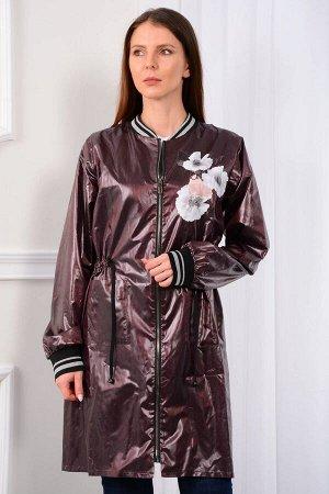 Плащ Плащ LM 01-19 шоколад  Состав ткани: ПЭ-100%;  Пыльник женский прямого силуэта, без подкладки, с центральной бортовой застежкой на разъемную тесьму-молнию. Пыльник выполнен из водоотталкивающей
