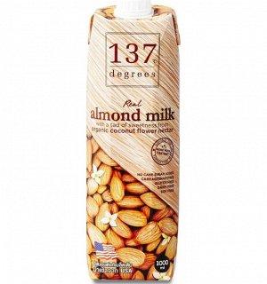 Миндальное молоко с нектаром кокосовых соцветий 137 Degrees, 1000 мл 1/12