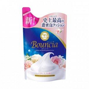 BOUNCIA Жидкое мыло для тела увлажняющее с ароматом цветов, 400мл,смен уп