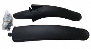 """Велосипедные крылья пластмассовые PM-01A черные 20""""-24"""" (1/50)"""