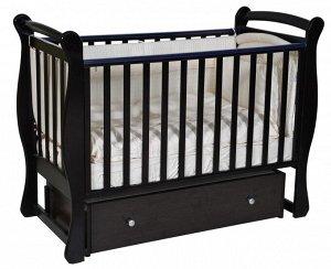 """Детская кровать """"Viola""""(2) автостенка,ящик,универсальный маятник (поперечный+продольный) (шоколад)"""