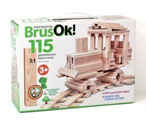 Конструктор деревянный BrusOк! 115 эл арт.02947