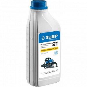 Масло ЗУБР Масло ЗУБР, для 2-х тактных двигателей, полусинтетическое (-30С), соотнош. бензин-масло 50:1, класс API TC, M/F 3, 1л  Масло ЗУБР ЗМД-2Т-П, предназначено для двухтактных двигателей отличают