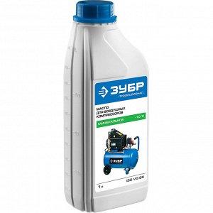 Масло ЗУБР Масло ЗУБР, для воздушных компрессоров, минеральное, класс ISO VG 68, 1л  Масло ЗУБР ЗМК-ПС, предназначено для поршневых компрессоров. Продлевает срок службы самой главной части компрессора