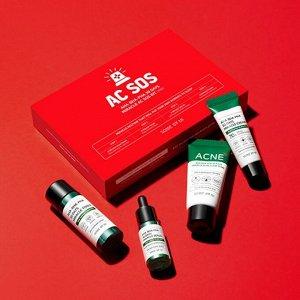Some By Mi AC SOS AHA-BHA-PHA 30 Days Miracle AC SOS Kit - Мини набор из 4 предметов для проблемной и склонной к жирности коже