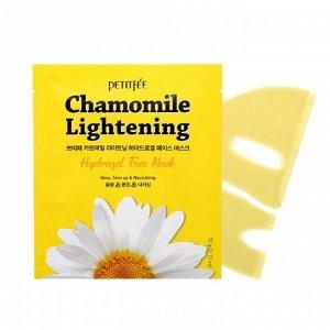 (Упаковка) Petitfee Chamomile Lightening Hydrogel Face Mask - Гидрогелевые маски для лица с ромашкой 5шт.
