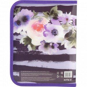 Папка на молнии Kite Flowers B5 K18-203-2