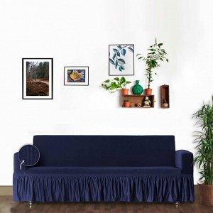 Чехол для дивана Cernobio цвет синий (трехместный)
