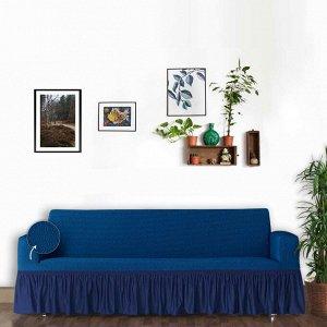Чехол для дивана Como цвет голубой (трехместный)