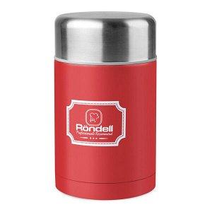 945 Термос для еды 0,8 л с внутр.контейнером 0,35 л Picnic Red Rondell (R)