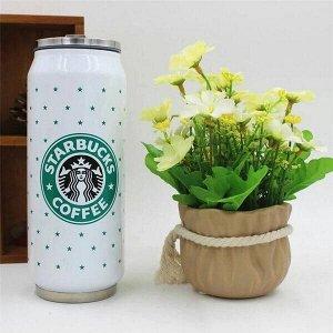 Термос-бутылка с трубочкой Starbucks 500 мл
