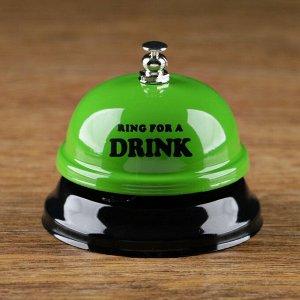 """Звонок настольный """"Время пить!"""". микс. 7.5х7.5х6.5 см"""