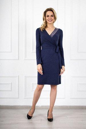 Платье 804 элегант синий