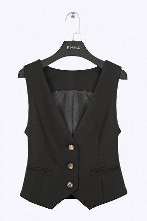 #93965 Жилет (Emka Fashion) черный