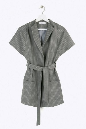 #93950 Жакет (Emka Fashion) серый, розовый