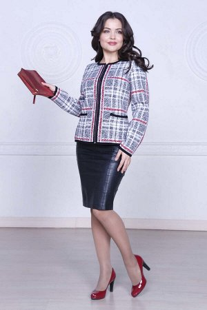 #94203 Жакет (Ankoli) Серый/бордовый