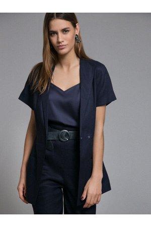 #93980 Жакет (Emka Fashion) темно-синий