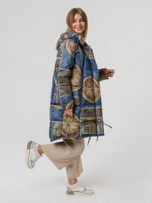 Куртка Демисезонное пальто с капюшоном, сшитое из материала с ярким принтом. А — силуэт позволяет носить изделие и женщинам в интересном положении (беременным). Карманы на скрытой магнитной кнопке, ко