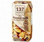 Миндальное молоко с нектаром кокосовых соцветий 137 Degrees, 180 мл 1/36