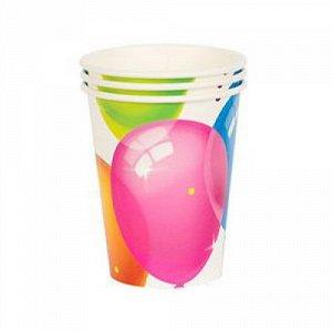 Набор стаканов бумажных Шары Кристальные 250 мл 6 шт